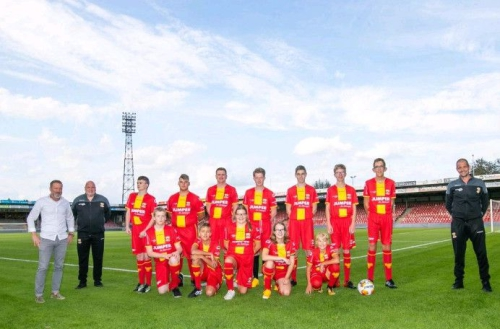 Een teamfoto in de Adelaarshorst